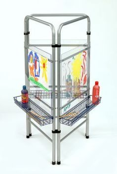 3 Sided See Thru Floor Standing Easel - 123 x 58 x 3cm x 3 - Each