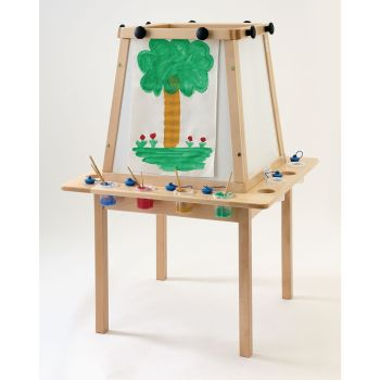 Wooden Beech 4-Sided Easel - 115 x 10 x 69cm - Each