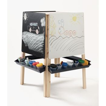 Four Sided Easel, Whiteboard & Chalkboard - 107 x 64 x 20cm - Each