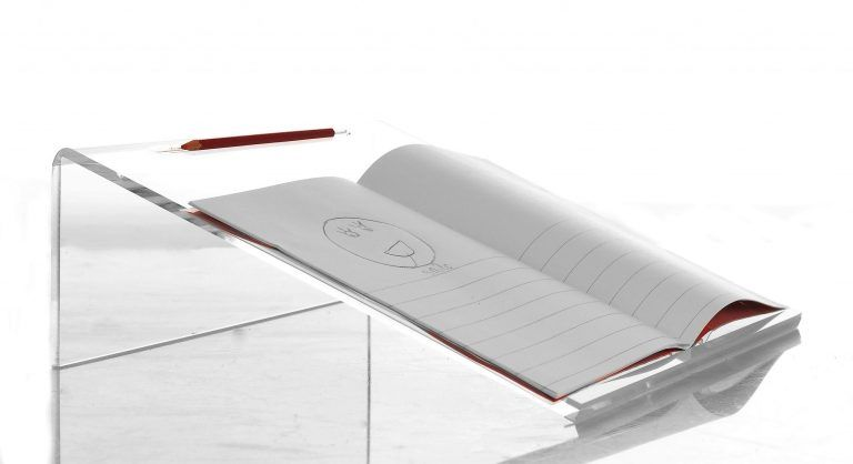 Clear Writing Slope - 35 x 35 x 12cm - Each