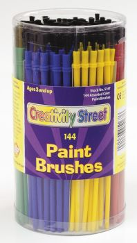 Economy Paint Brushes - Assorted Colours - Pack of 144