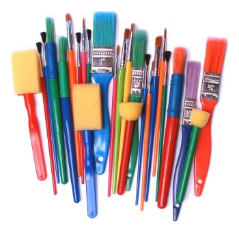 Brushes & Sponge Dabbers Starter Pack - Assorted - Pack of 25