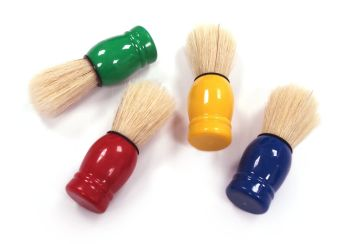 Chubby Short Painted Brushes - Assorted - Pack of 4