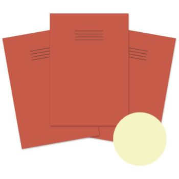 Dyslexia Friendly A4 Special Needs Red Cover 8mm Ruled with Margin Exercise Books - 48-Page - Pack of 10