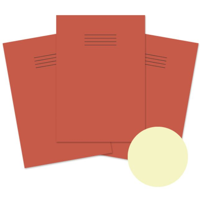 A4 Dyslexia Friendly Special Needs Red Covered 8mm Ruled with Margin Exerci