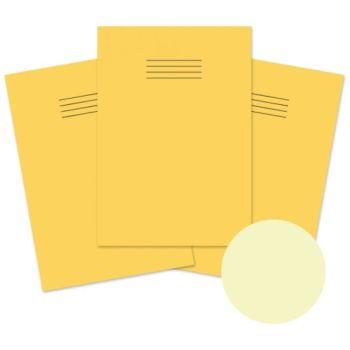 Dyslexia Friendly A4 Special Needs Yellow Cover 8mm Ruled with Margin Exercise Books - 48-Page - Pack of 10