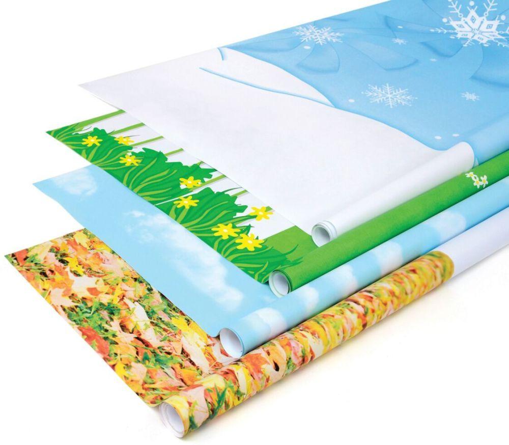 Fadeless Designs Seasonal Assortment - 1218mm x 3.6m - Pack of 4