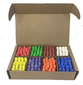 Coloured Chunki Chalks - Assorted - 57 x 14mm - Class Pack of 160