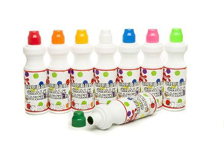 Chubbie Chalk Markers - Assorted - 8 x 76ml - Pack of 8