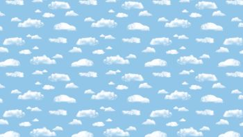 Clouds Fadeless Poster Display Roll - Please Select Size - Each