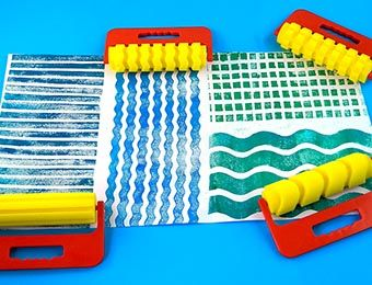 Giant Pattern Rollers - Assorted - Pack of 4