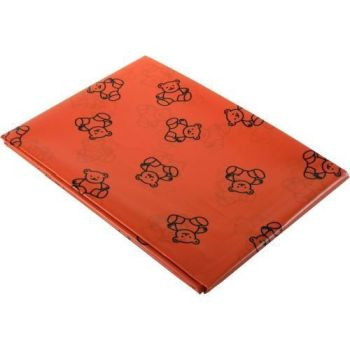 Teddy Bear Splash Mat - Red - 150 x 150cm - Each
