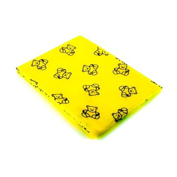Teddy Bear Splash Mat - Yellow - 150 x 150cm - Each