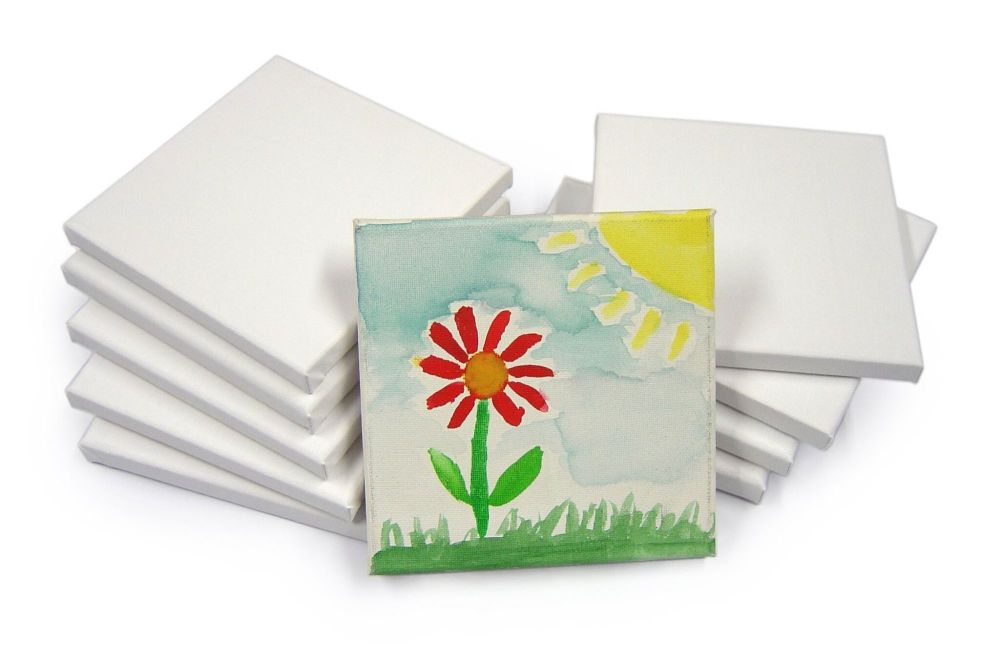Stretched Canvas - 15 x 15cm - Pack of 10