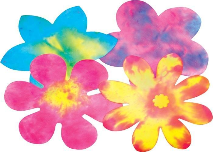 Colour Diffusing Paper - Flowers - Assorted - 19cm - Pack of 80