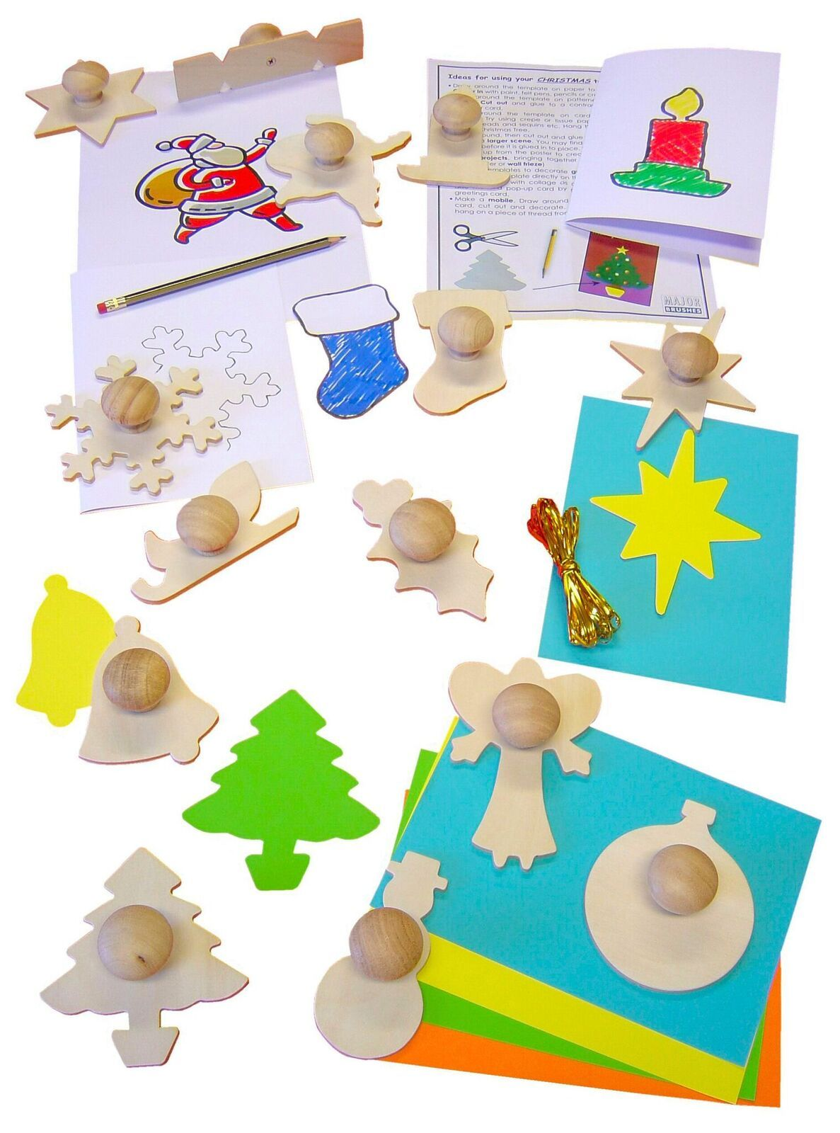 Wooden Christmas Templates - Assorted - Pack of 14