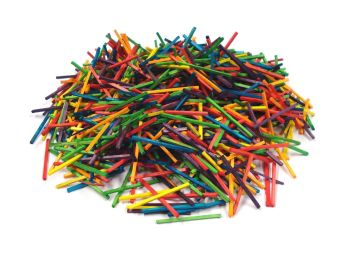 Coloured Wooden Matchsticks - Assorted - 42 x 2 x 2mm - Pack of 1000
