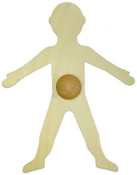 My Body Wooden Template - 28cm - Each
