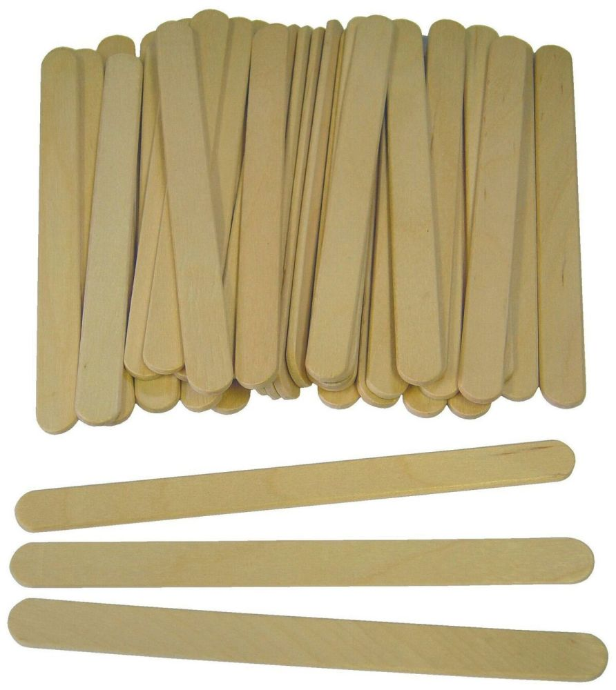 Wooden Natural Craft/Lolly Sticks - 11 x 9.5mm - Pack of 1000