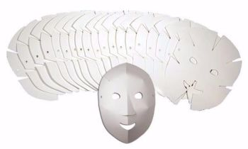 Fold Up Fun Masks - 21 x 27cm - R52076 - Pack of 40