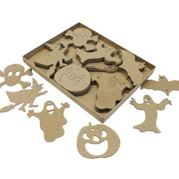 Halloween Card Cut-Out Shapes - Assorted - 8-10cm - Pack of 60