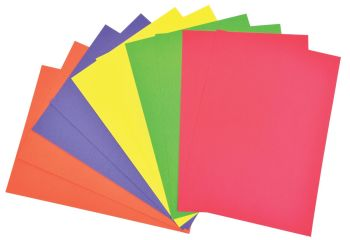 Bright Coloured A4/210 x 297mm Card - Assorted - 230 microns/175-185gsm - 7593-0 - Pack of 100