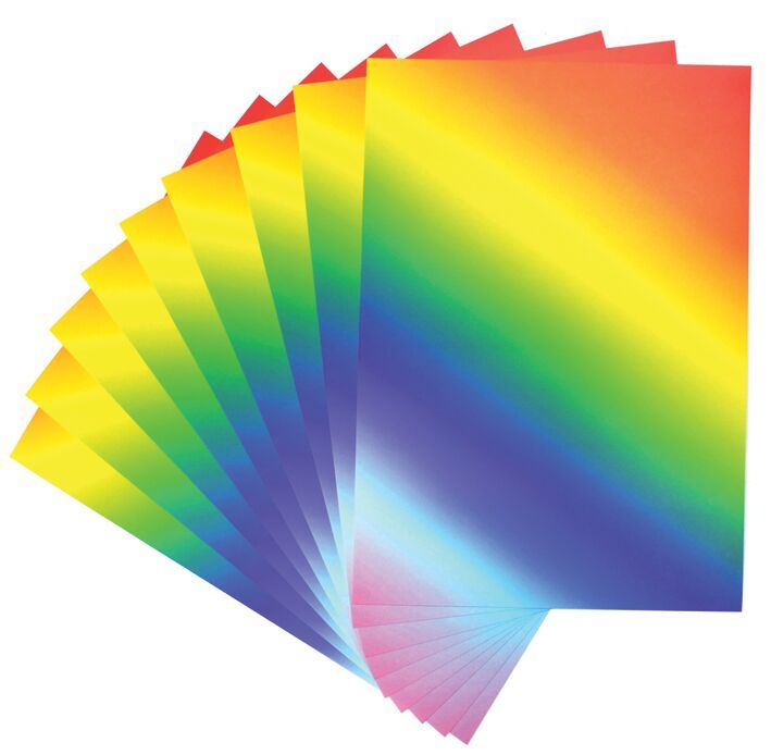 A4 Rainbow Card - 230 microns/175-185gsm - 210 x 297mm - Pack of 50