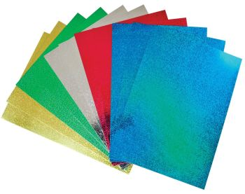 Holographic A4 Card - Assorted - 230 microns/175-185gsm - 210 x 297mm - Pack of 50