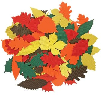 Autumn Leaves Corrugated Card Shapes - Assorted - Pack of 120
