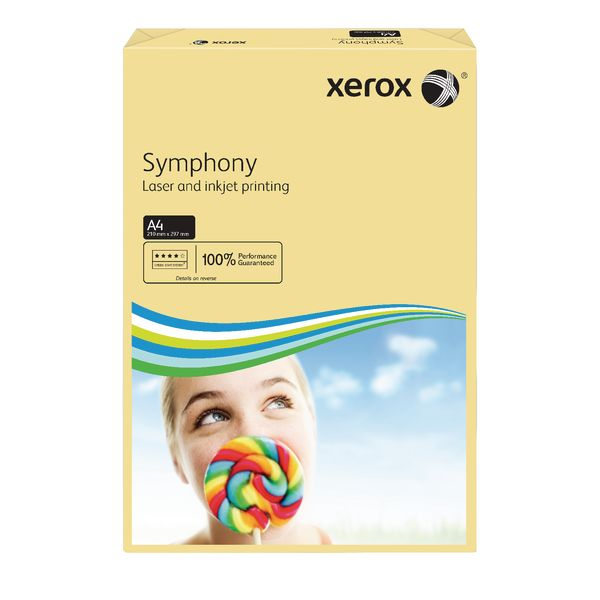 A4 Xerox Symphony Pastel Ivory Paper - 80gsm - 210 x 297mm - Pack of 500