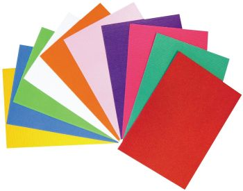 Bright A4 Micro Flute Corrugated Sheets - Assorted - HE1759487 - Pack of 10