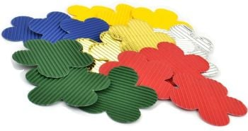 Corrugated Flower Shapes - Assorted - Pack of 50