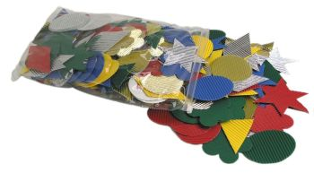 Corrugated Card Shapes - Assorted - Pack of 276