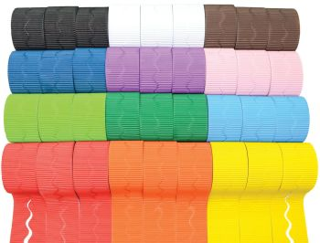 Corrugated Scalloped Border Rolls Value Pack 2 - Assorted - 57mm x 7.5m - Pack of 72