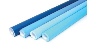 Cool Blues Collection Fadeless Poster Display Rolls - Assorted - 1218mm x 15m - Pack of 4