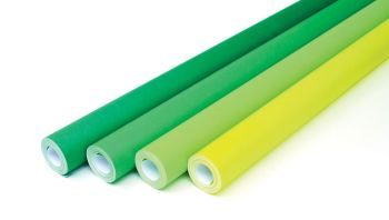 Greens Collection Fadeless Poster Display Rolls - Assorted - 1218mm x 15m - Pack of 4