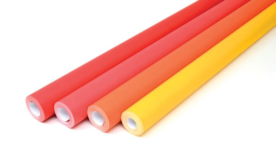 Reds & Oranges Collection Fadeless Poster Display Rolls - Assorted - 1218mm