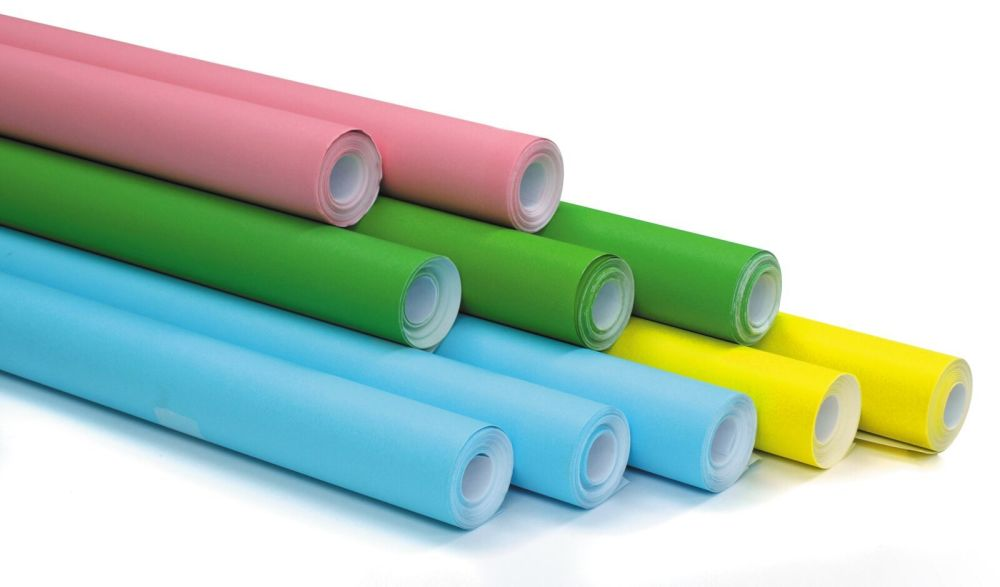 Spring Colour Themed Poster Display Rolls - Assorted - 76cm x 10m - Pack of
