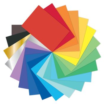 Coloured Poster Display Paper Sheets - Assorted - 76 x 51cm - Pack of 50