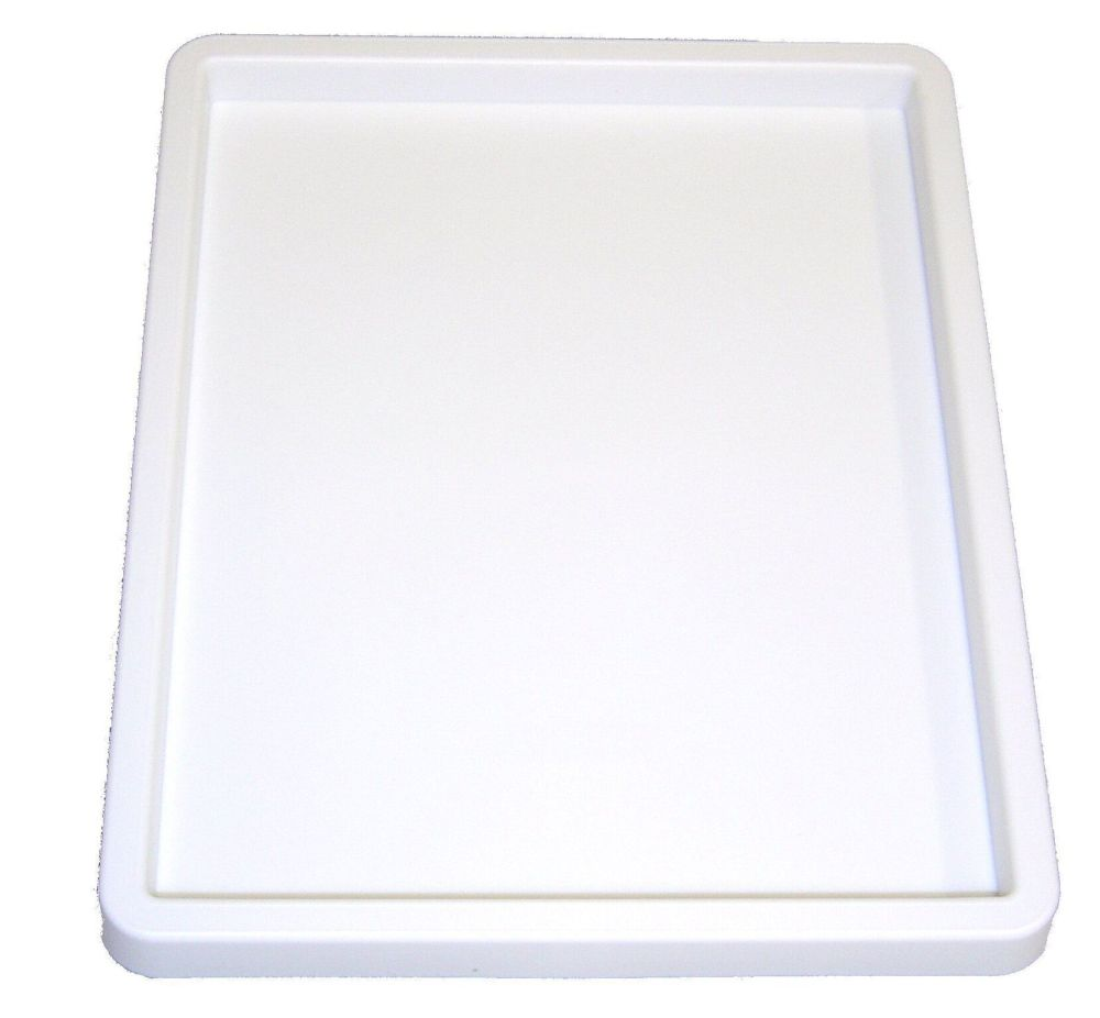 White Plastic Inking Tray - 20 x 25cm - Each