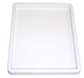 White Plastic Inking Tray - 20 x 25cm - Each