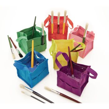 Portable Paint Buckets - Assorted - 12 x 12cm - Pack of 6