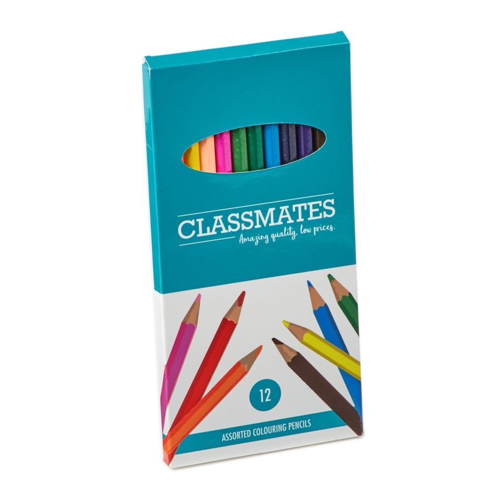 Classmates Colouring Pencils - Assorted - Pack of 12