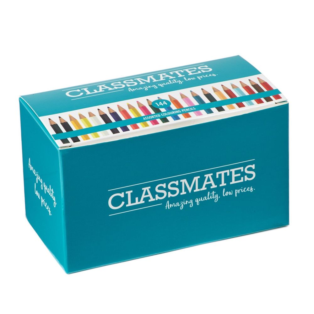 Classmates Colouring Pencils - Assorted - Pack of 144
