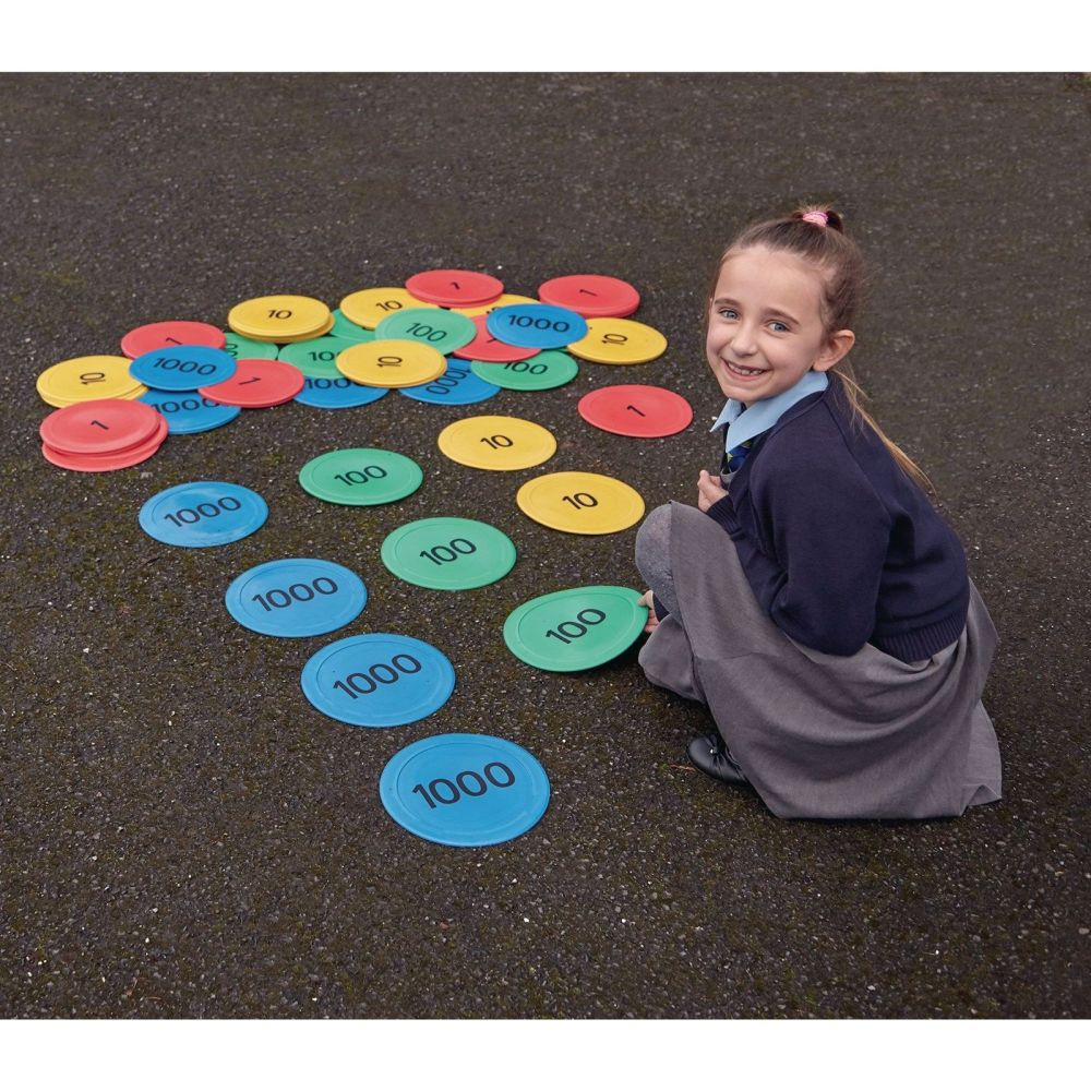 Indoor/Outdoor Place Value Counter Mats - 225mm - Pack of 80