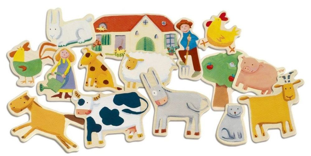 Magnetic Wooden Farm Play Set - Assorted - Pack of 24
