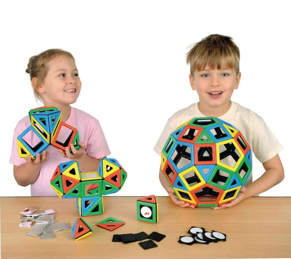 Polydron Magnetic Super Class Set - Assorted - Pack of 184
