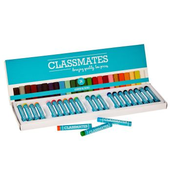 Classmates Oil Pastels - Assorted - Standard Size - Pack of 24