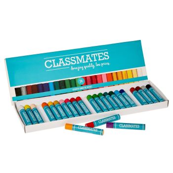 Classmates Oil Pastels - Assorted - Jumbo Size - Pack of 24