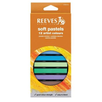 Reeves Soft Square Chalk Pastels - Assorted - Pack of 12